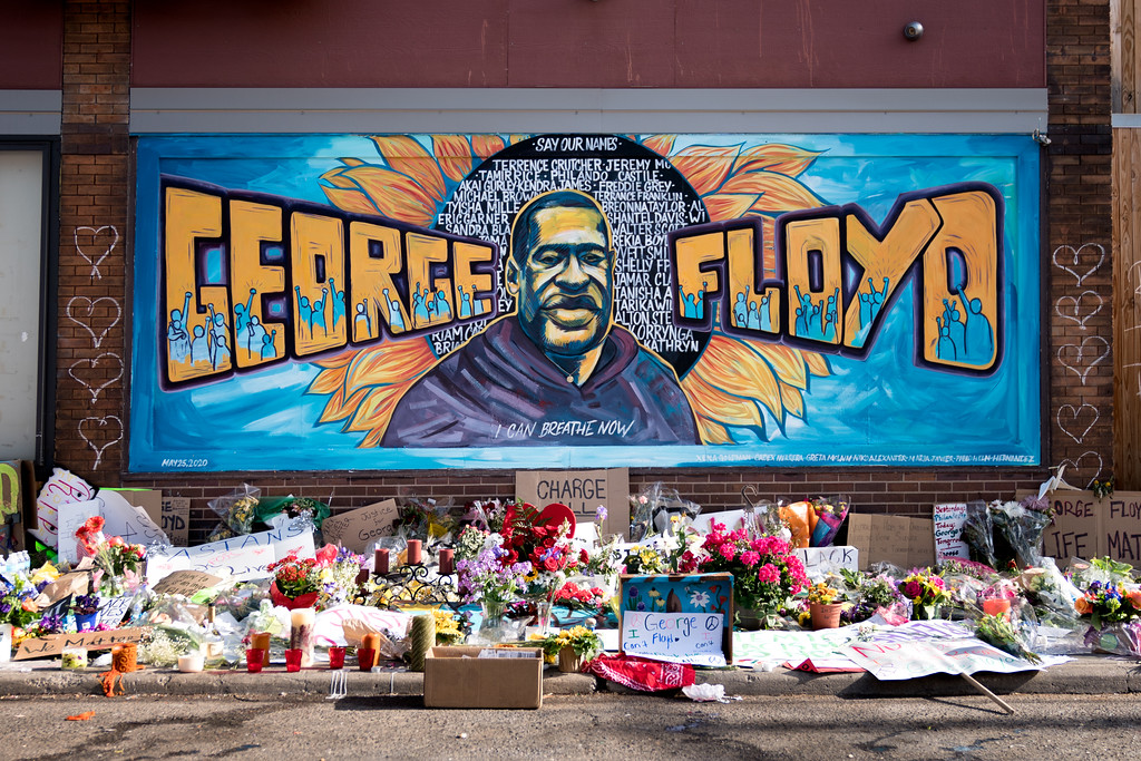 George Floyd's memorial in South Minneapolis